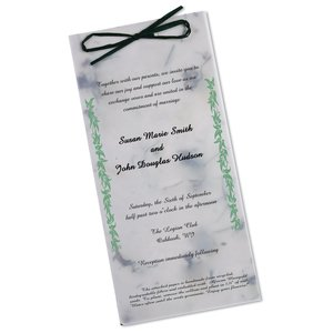 "Seeded Invitation/Program - 9"" x 4"" - Chili Pepper"
