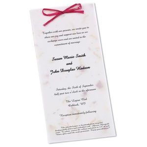 "Seeded Invitation/Program - 9"" x 4"" - California Poppy Main Image"