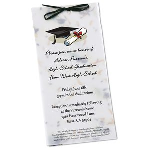"Seeded Invitation/Program - 9"" x 4"" - Pine Tree"