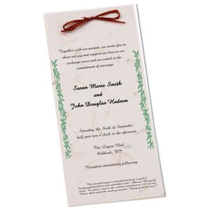 "Seeded Invitation/Program - 9"" x 4"" - Carrot Main Image"