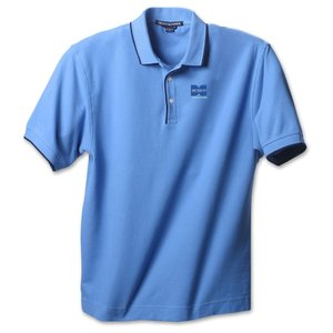 Devon & Jones Tipped Pique Polo - Men's - Closeout Main Image