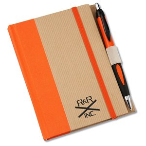 "Perfect Bound Notebook w/Helix Pen - 6"" x 4"" - Closeout"
