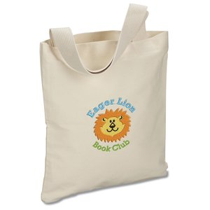 USA Made Bayside Promotional Tote - Natural - Embroidered