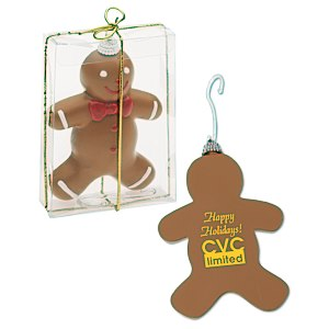 Shatterproof Ornament - Gingerbread Man - 24 hr Main Image