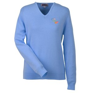 Ultra-Soft Cotton V-Neck Sweater - Ladies' Main Image