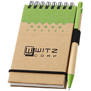 Dew Drops Recycled Mini Jotter & Pen - 24 hr Main Image