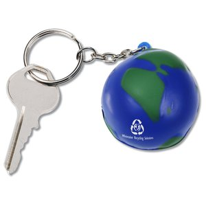 Squishy Key Tag - Globe Main Image
