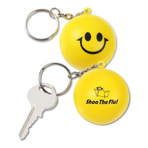 Squishy Key Tag - Smiley Face Main Image