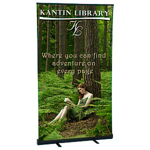 "Economy Retractor Banner Display - 47-1/4"" Main Image"