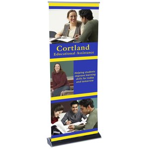 "UltraLite Retractable Banner - 34-1/2"" Main Image"