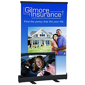 "Economy Tabletop Retractor Banner Display - 24"" Main Image"
