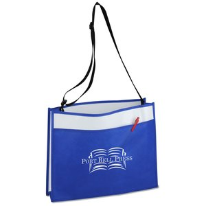Courier Laminate Tote - Closeout Main Image