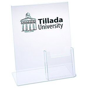 "Sign Holder with Brochure Pocket - 11"" x 8-1/2"" Main Image"