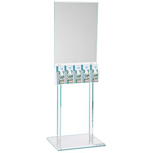 Floor Poster Stand with 5 Pockets - Clear Main Image