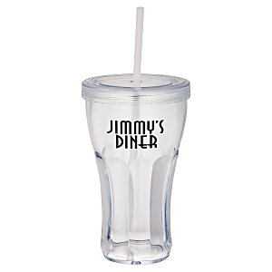Fountain Soda Tumbler with Straw - 16 oz.
