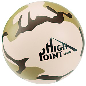 Camouflage Round Stress Reliever - 24 hr Main Image