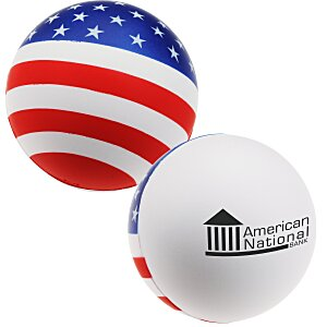 Patriotic Round Stress Reliever - 24 hr Main Image