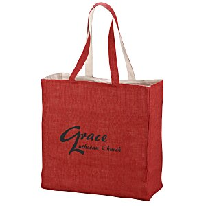 Reversible Jute Cotton Tote Main Image