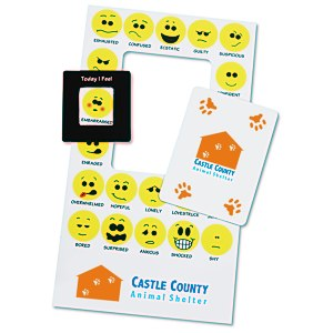 Bic Mood Frame Magnet - Smiley Faces Main Image