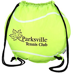 Game Time! Tennis Ball Drawstring Backpack