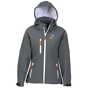 Tulsa Hooded Bonded Soft Shell Jacket - Ladies' Main Image