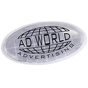 "Reflective Sticker - Oval - 1-1/4"" x 2-1/4"" Main Image"