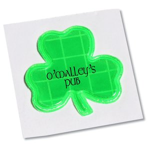 "Reflective Sticker - Shamrock - 1-1/8"" Dia Main Image"