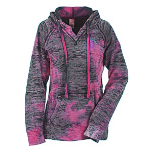 MV Sport Courtney Burnout Sweatshirt - Raspberry Swirl - Embroidered Main Image