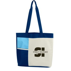 Color Block Tote - Closeout Main Image
