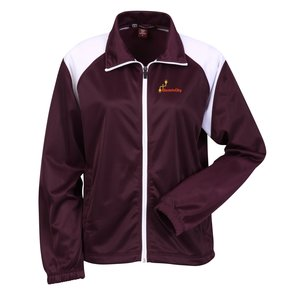 Harriton Tricot Track Jacket - Ladies' Main Image