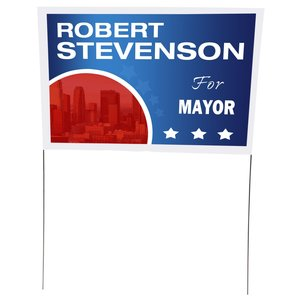 "Plastic Sheeting Yard Sign - 16"" x 24"" Main Image"