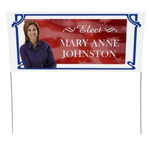 "Plastic Sheeting Yard Sign - 16"" x 36"" Main Image"