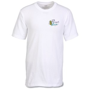 Anvil USA Made Classic Tee - Embroidered - White