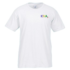 Gildan SoftStyle T-Shirt - Men's - Embroidered - White Main Image