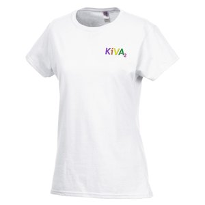 Gildan SoftStyle T-Shirt - Ladies' - Embroidered - White Main Image