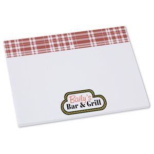 Bic Sticky Note - Designer - 3x4 - Plaid - 25 Sheet Main Image