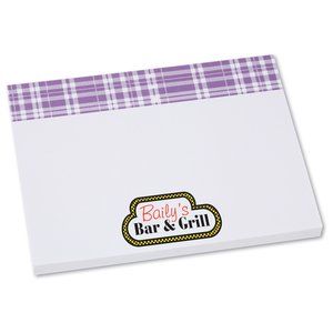 Bic Sticky Note - Designer - 3x4 - Plaid - 50 Sheet Main Image