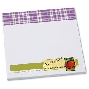 Bic Sticky Note - Designer - 3x3 - Plaid - 25 Sheet Main Image
