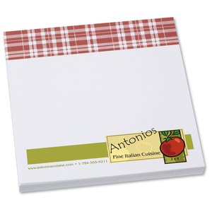Bic Sticky Note - Designer - 3x3 - Plaid - 50 Sheet Main Image