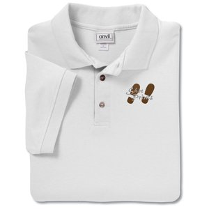 Anvil Stain Repel Sport Shirt -Men's - White Main Image