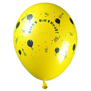 "Balloon - 11"" Standard Colors - Happy Birthday"