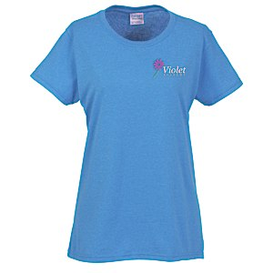 Gildan 5.3 oz. Cotton T-Shirt - Ladies' - Embroidered - Colors Main Image