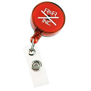 Economy Retractable Badge Holder - Round - Translucent - 24 hr Main Image