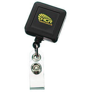 Economy Retractable Badge Holder - Square - Opaque - 24 hr Main Image