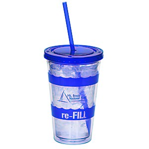 Wavy Color Scheme Spirit Tumbler - 16 oz. - 24 hr Main Image