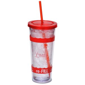 Wavy Color Scheme Spirit Tumbler - 20 oz. - 24 hr Main Image