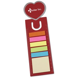 Bookmark Ruler w/Note and Flag Set - Heart Main Image