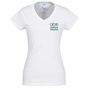 Gildan Softstyle V-Neck T-Shirt - Ladies' - White