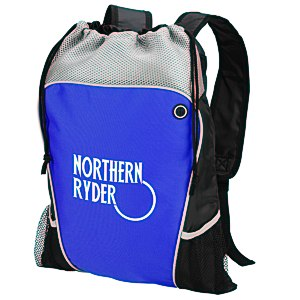 Hiker's Two-Tone Drawstring Backpack Main Image
