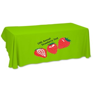 Economy Open-Back Polyester Table Throw - 6' - Heat Transfer Main Image
